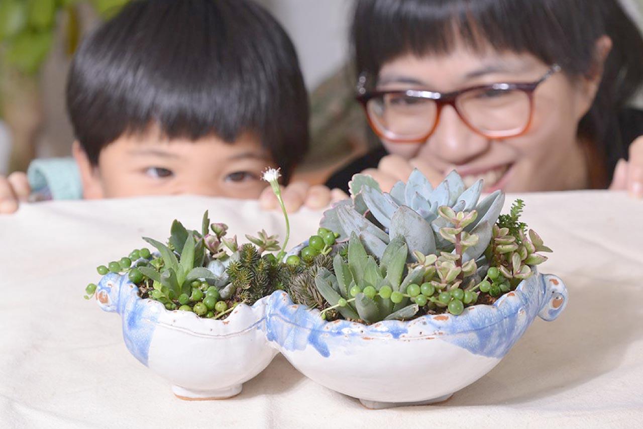 [ 親子課程 ] 手捏陶器 & 多肉組盆 DSC 9582 02
