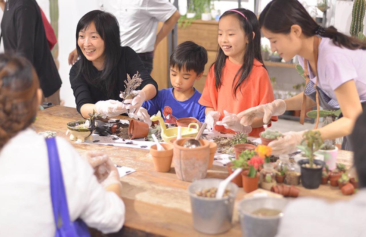 [ 親子課程 ] 手捏陶器 & 多肉組盆 DSC 9582 06