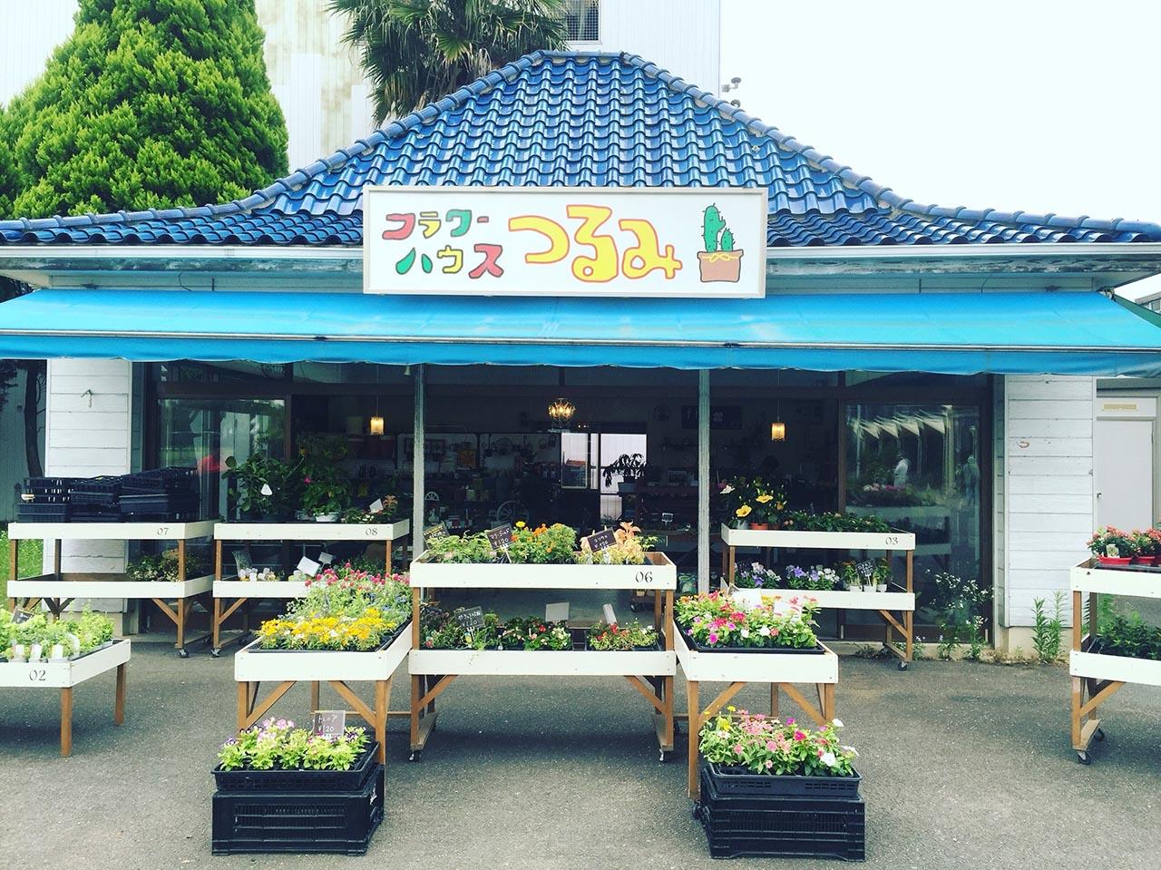鮮花競放館的植物販賣區