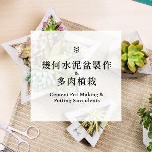 [ 水泥課程 ] 幾何水泥盆栽製作 & 多肉植物(台北教室) 5