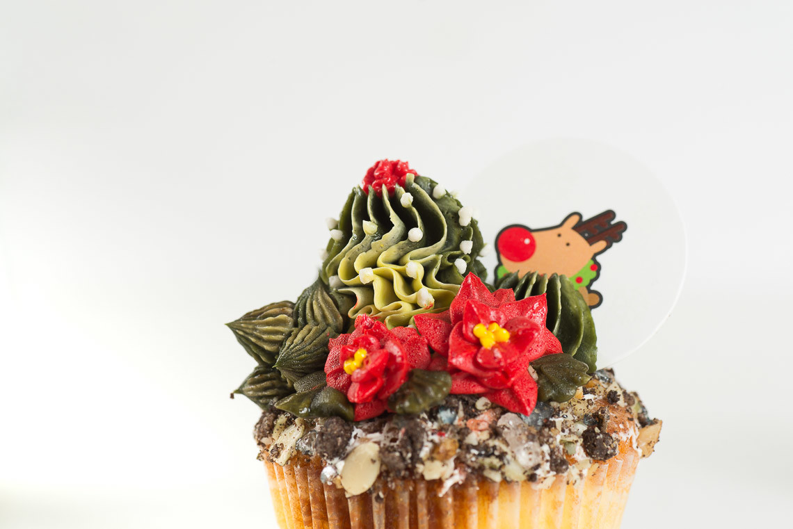 聖誕節擠花蛋糕課