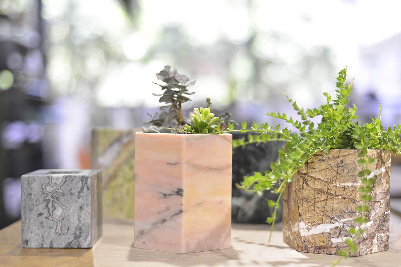 大理石花器