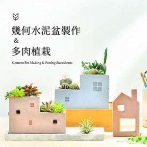 [ 水泥課程 ] 幾何水泥盆栽製作 & 多肉植物 4