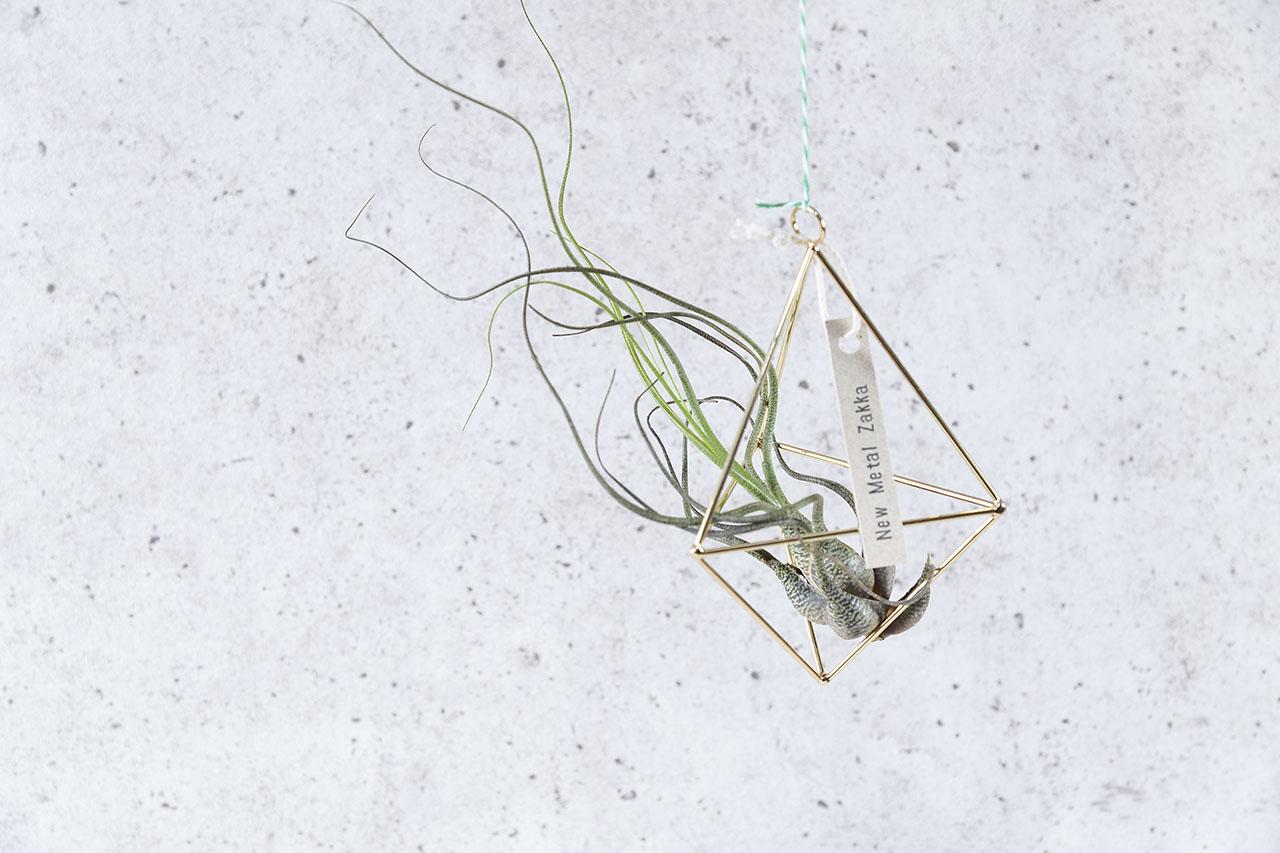 空氣鳳梨掛飾-香檳金/三角形 (三種尺寸) 0902 1812