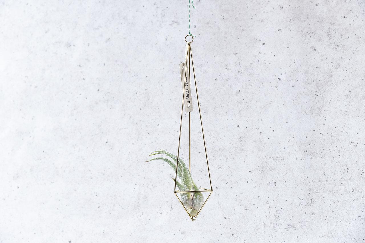 空氣鳳梨掛飾-香檳金/三角形 (三種尺寸) 2商品0902 1820
