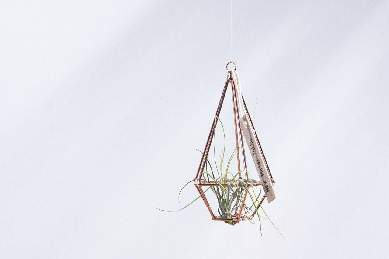 空氣鳳梨掛飾-玫瑰金/鑽石型 (三種尺寸) 5