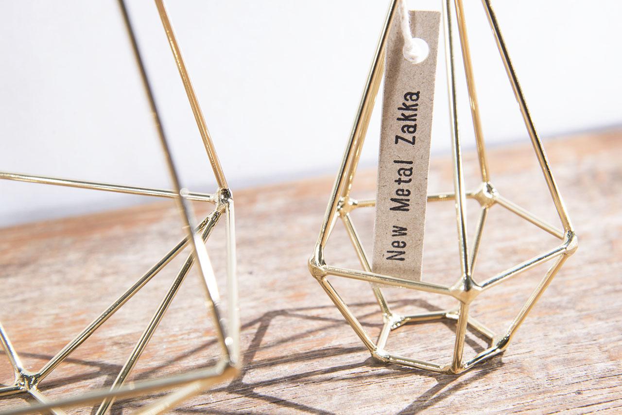 空氣鳳梨掛飾-香檳金/鑽石型 (三種尺寸) 4