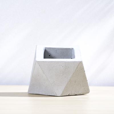 斜面三角幾何水泥小盆 400X400 DSC9004