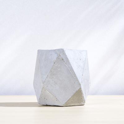 五角幾何水泥小盆 400X400 DSC9005