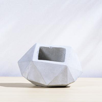 斜面鑽石幾何水泥小盆 400X400 DSC9006