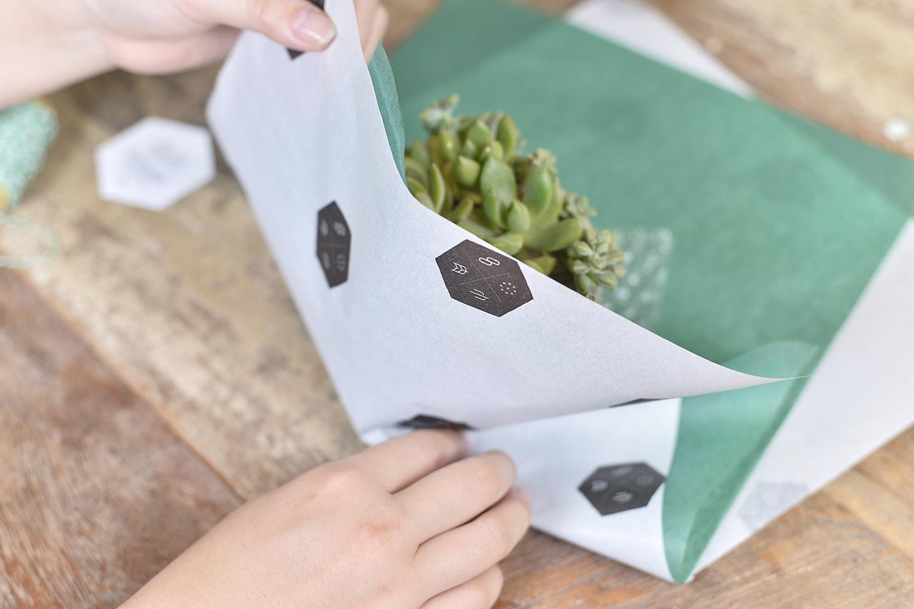 包裝紙也頗具設計感