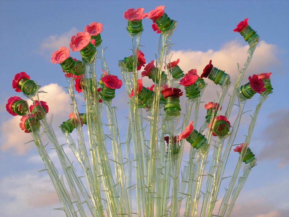 塑膠花媒材仙人掌