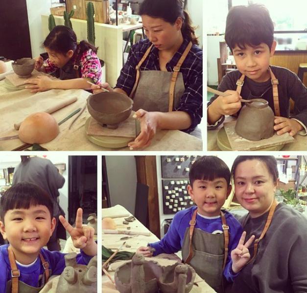 [ 親子課程 ] 手捏陶器 & 多肉組盆 2017 02 24 下午5.05.23