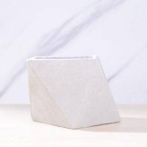 三角幾何水泥小盆 1