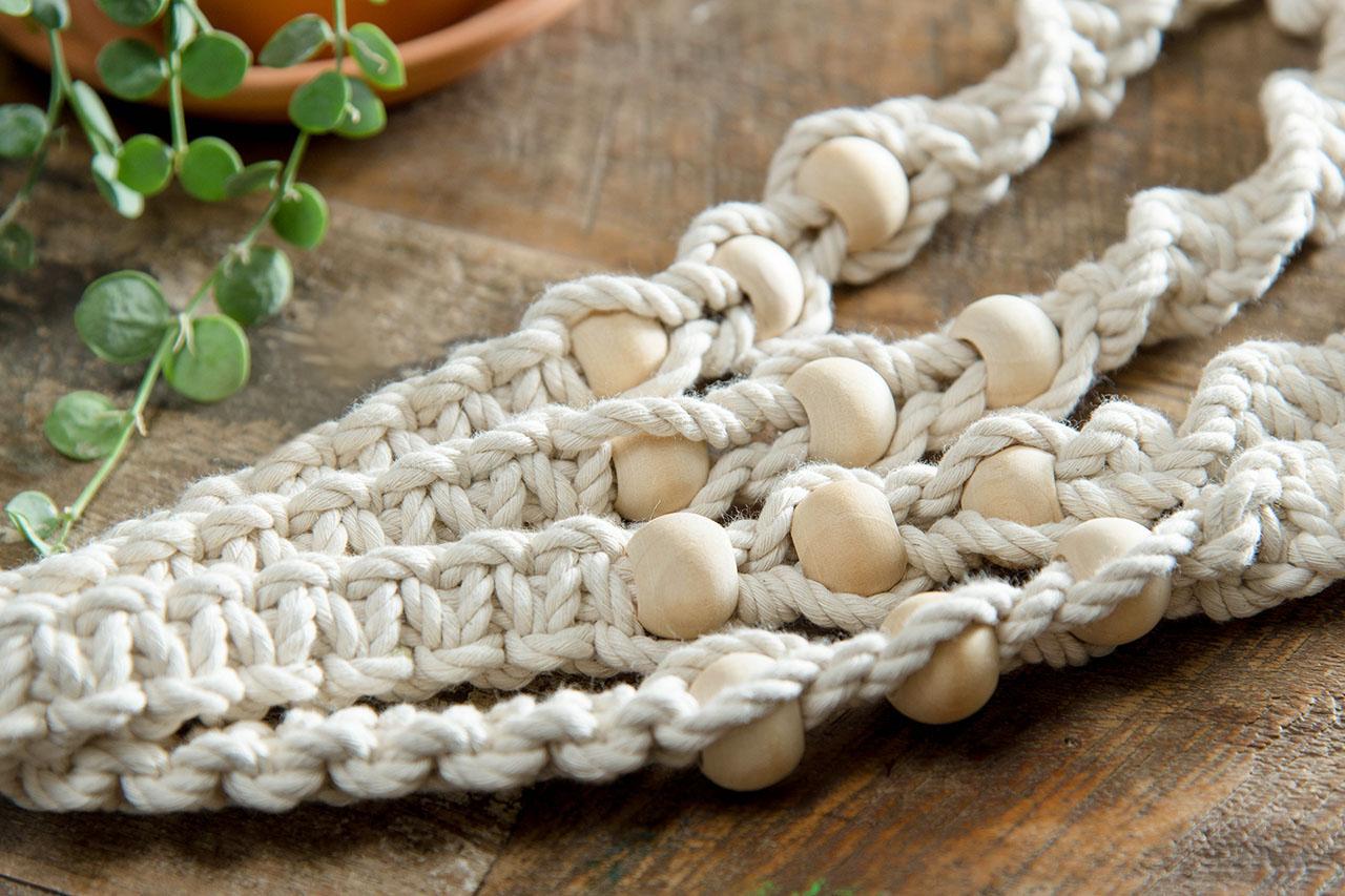 【手作課程】多肉花式編織吊盆 7