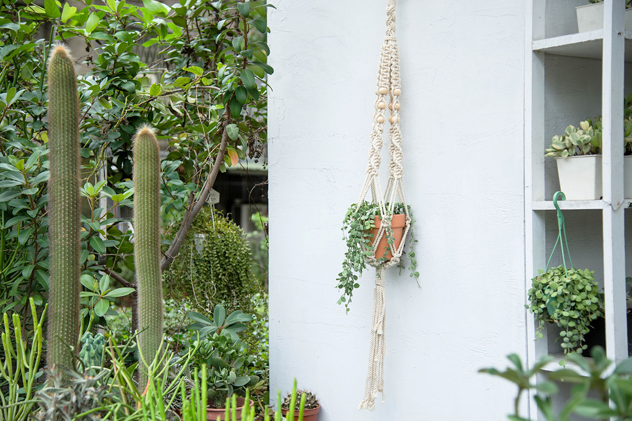 【手作課程】多肉花式編織吊盆 2