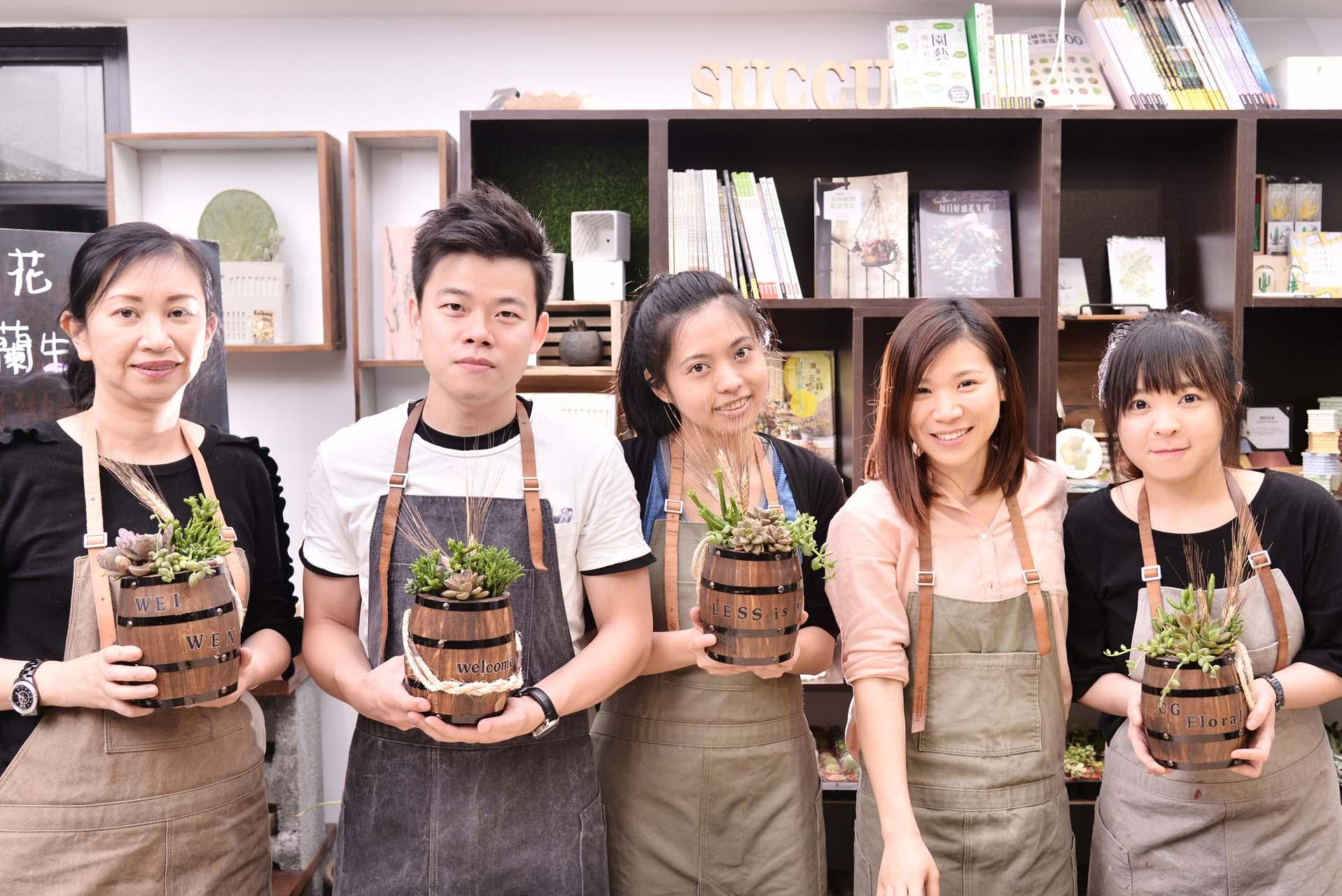 花藝課程作品以及學員作品實品照
