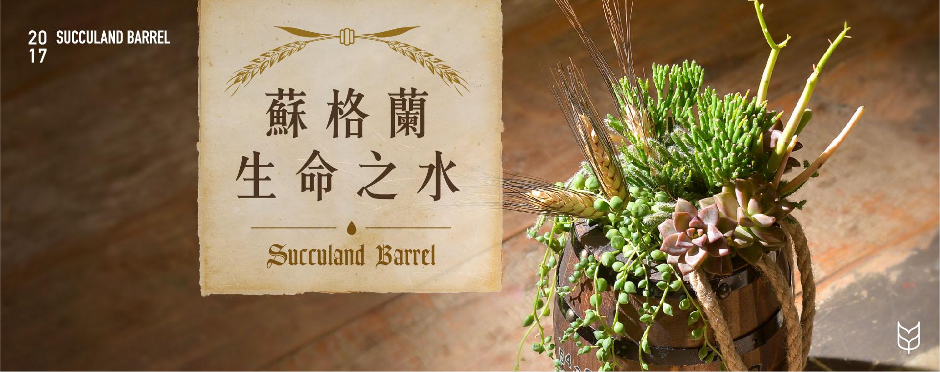 多肉組盆有肉_蘇格蘭生命之水課程簡介,具有民藝、鄉村感的手作課程,結合乾燥花材及多肉植物及特殊盆器