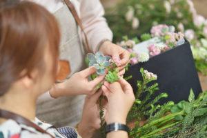 花藝體驗課程上課過程
