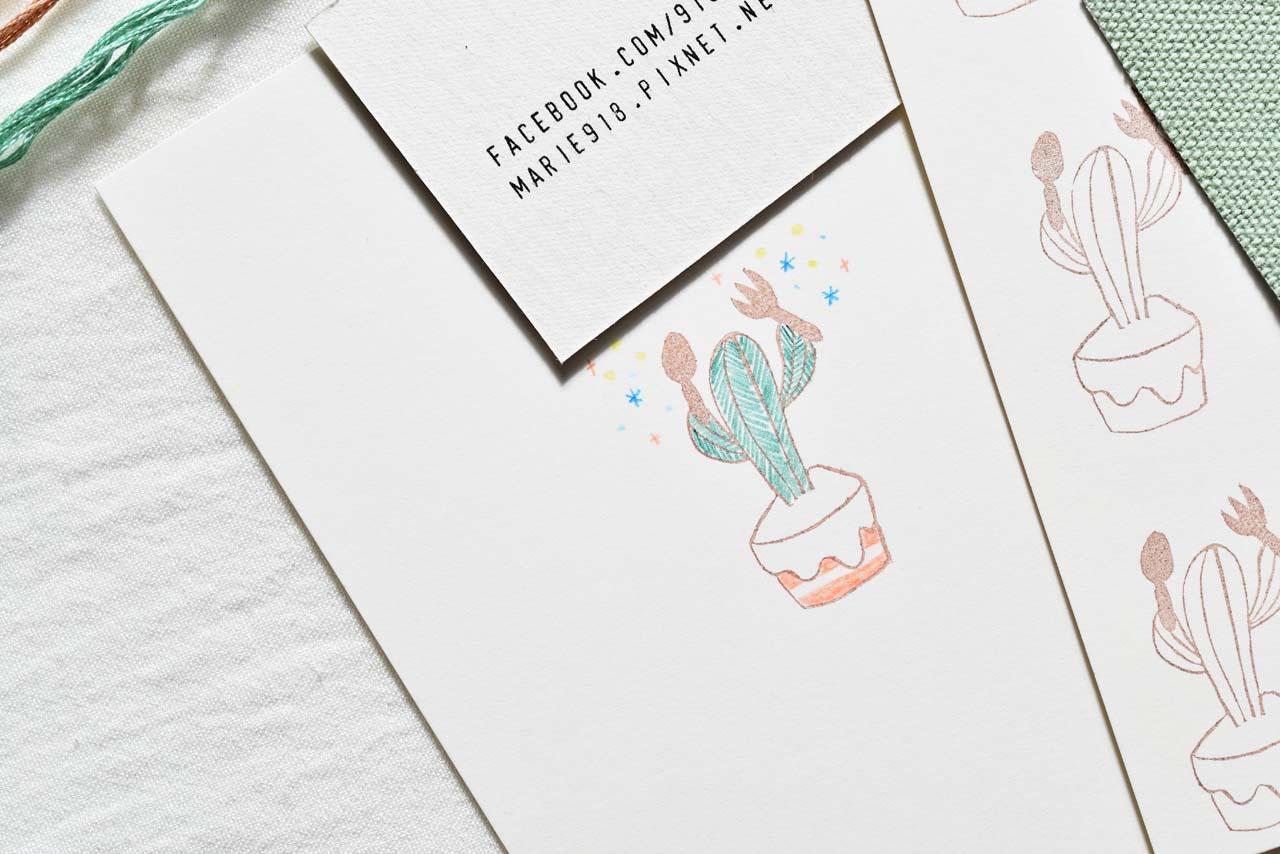 [ 刺繡課程 ] 仙人掌の刺繡課 11