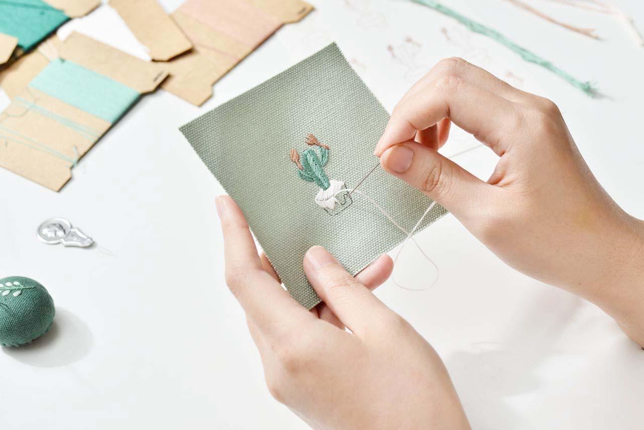 [ 刺繡課程 ] 仙人掌の刺繡課 0612有肉刺繡課程 4750 1