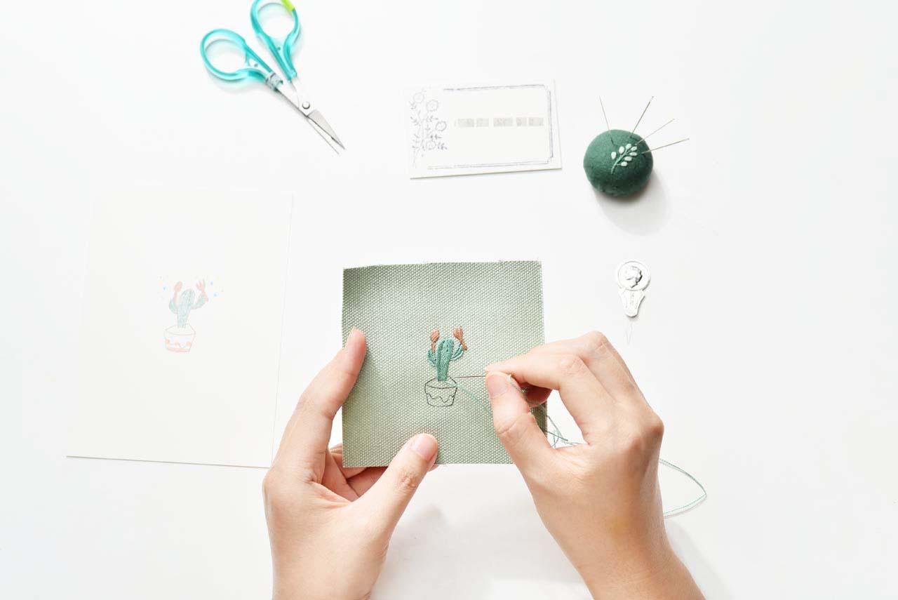 [ 刺繡課程 ] 仙人掌の刺繡課 0612有肉刺繡課程 4769 1
