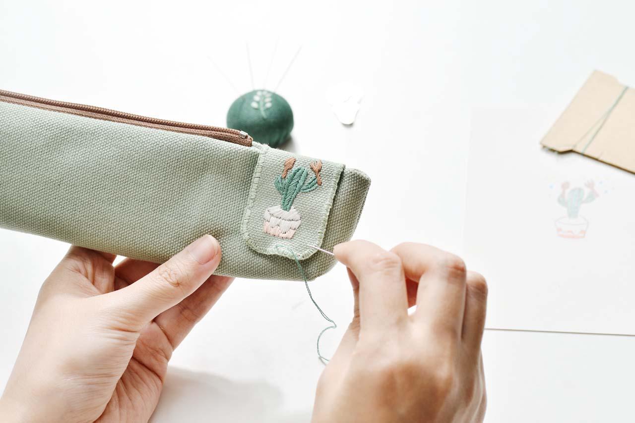 [ 刺繡課程 ] 仙人掌の刺繡課 0612有肉刺繡課程 4787