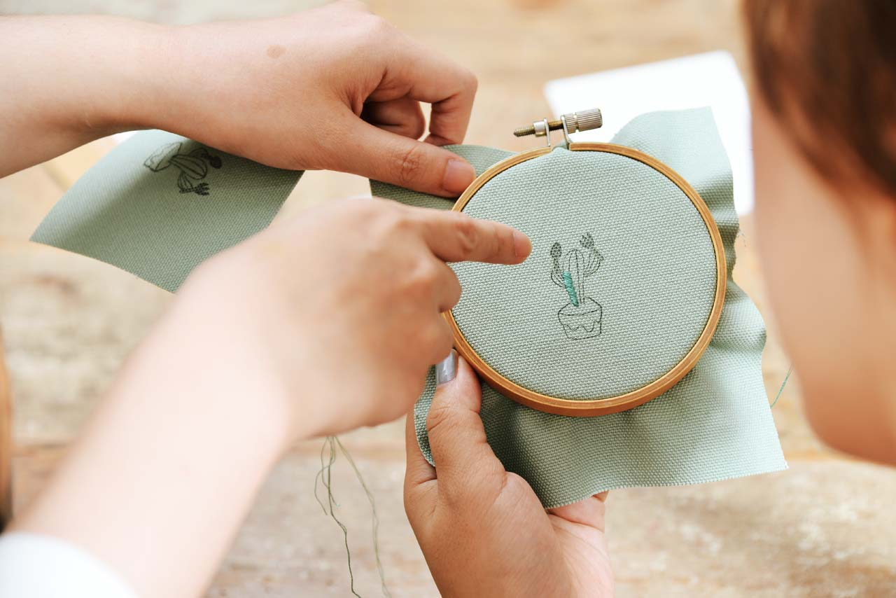 [ 刺繡課程 ] 仙人掌の刺繡課 0612有肉刺繡課程 4921