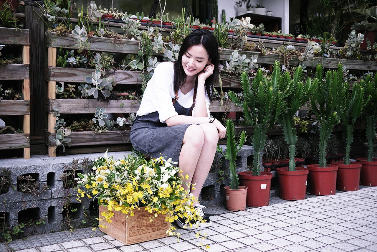 花藝體驗後還可以來到門口植栽區拍照打卡,IG熱點喔!
