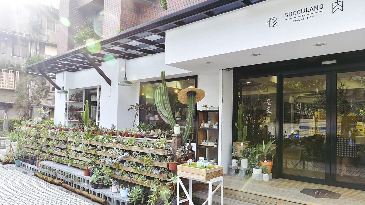 戶外多肉植栽牆面,距離大安捷運站五分鐘,質感的裝潢設計