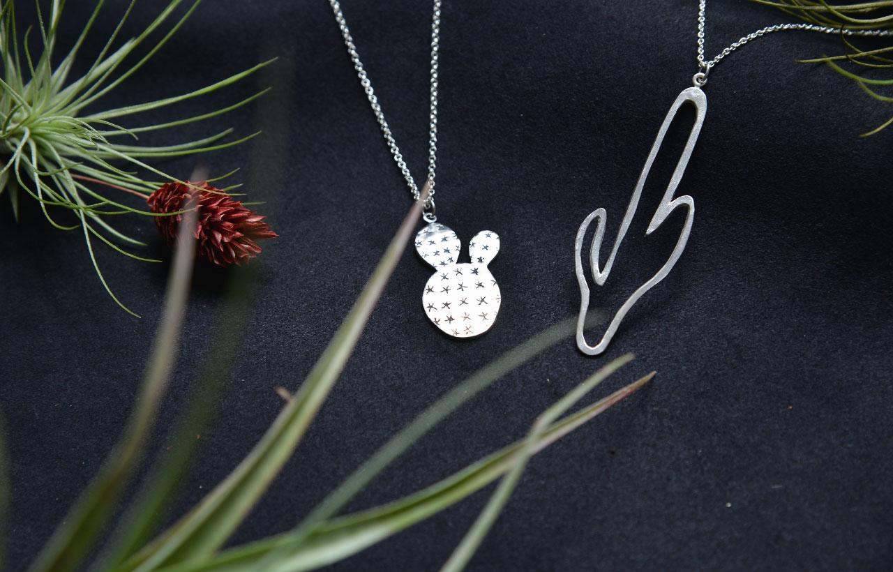 銀飾手作課作品設計,你也可以設計出完全不一樣的仙人掌