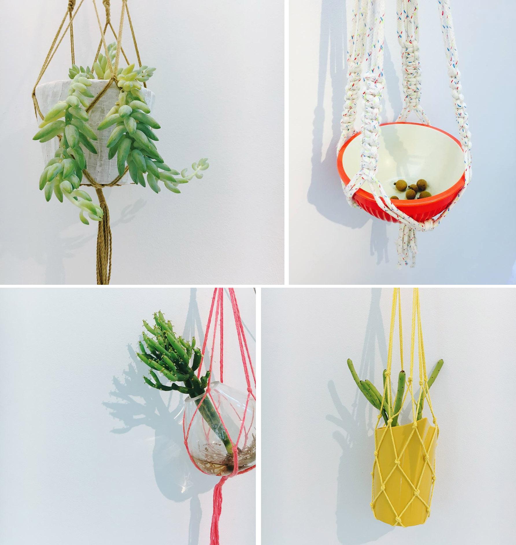 【手作課程】多肉花式編織吊盆 11