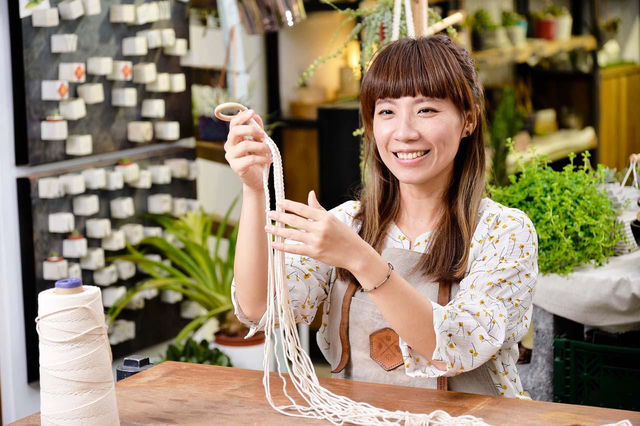【手作課程】多肉花式編織吊盆 10