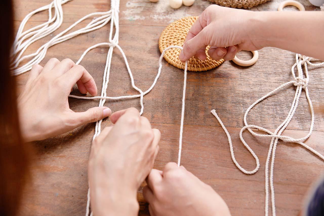 【手作課程】多肉花式編織吊盆 4