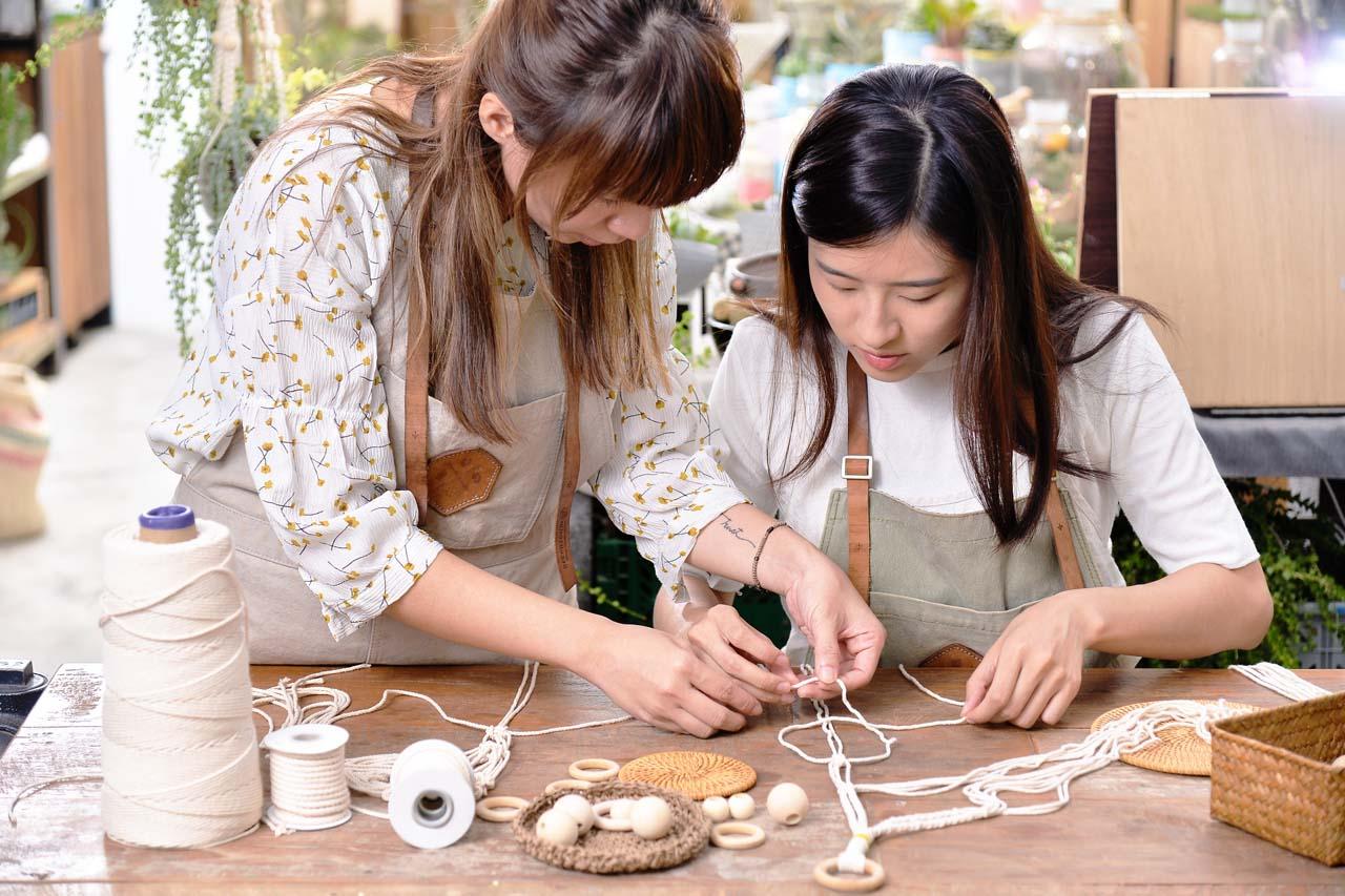 【手作課程】多肉花式編織吊盆 3