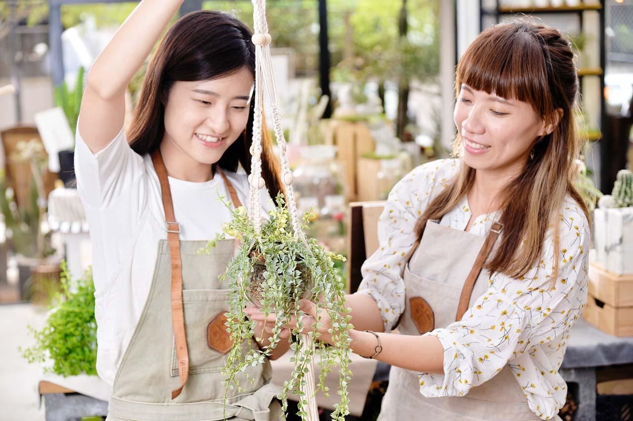 【手作課程】多肉花式編織吊盆 5