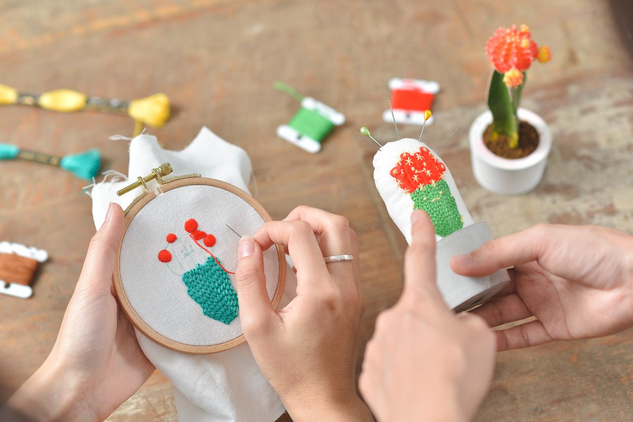 [ 刺繡課程 ] 仙人掌的刺繡課 10 1