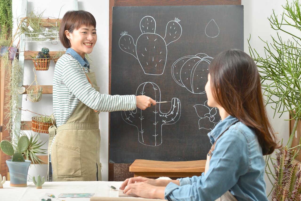 【陶藝課程】 迷你多肉耳環 (台中教室) 4