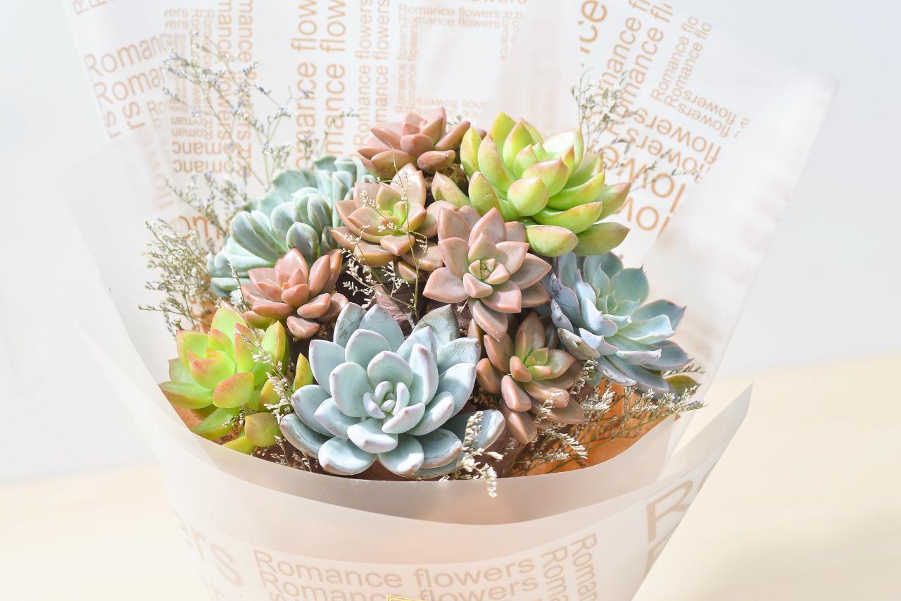 多肉植物花束,捧花適合拿來求婚、婚禮佈置、送給喜歡多肉植物的好朋友