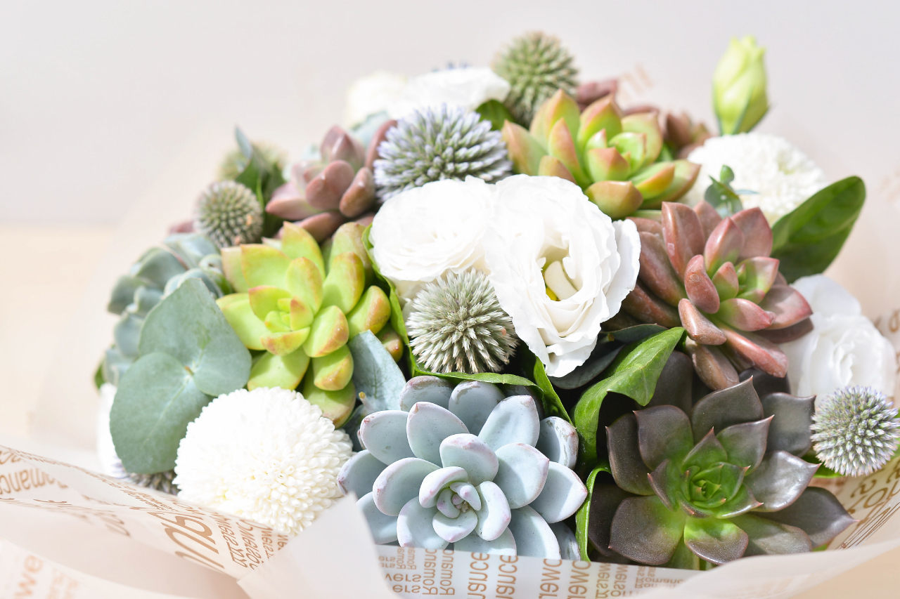 這款花束還可以讓生命延續,不像鮮花一下就會枯萎