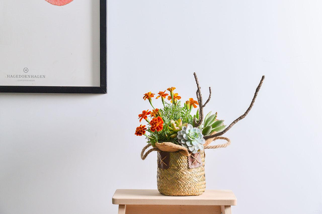 一年四季都要裝式花藝作品在家裡,讓空間增添更多色彩及活力