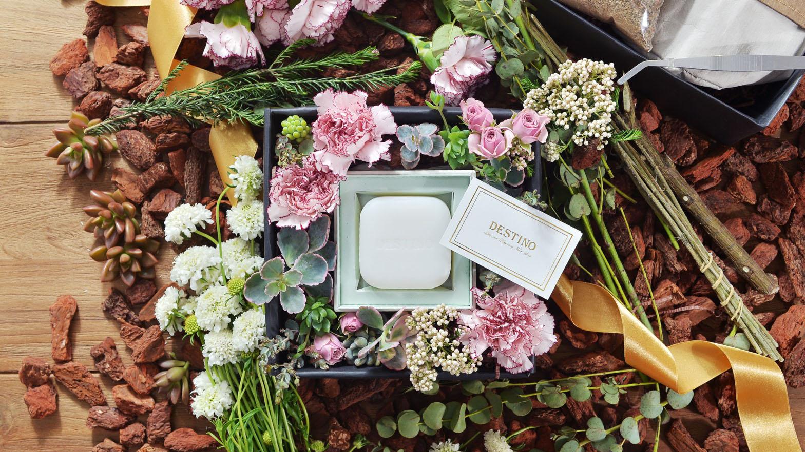 多肉植物花藝組+潔顏皂