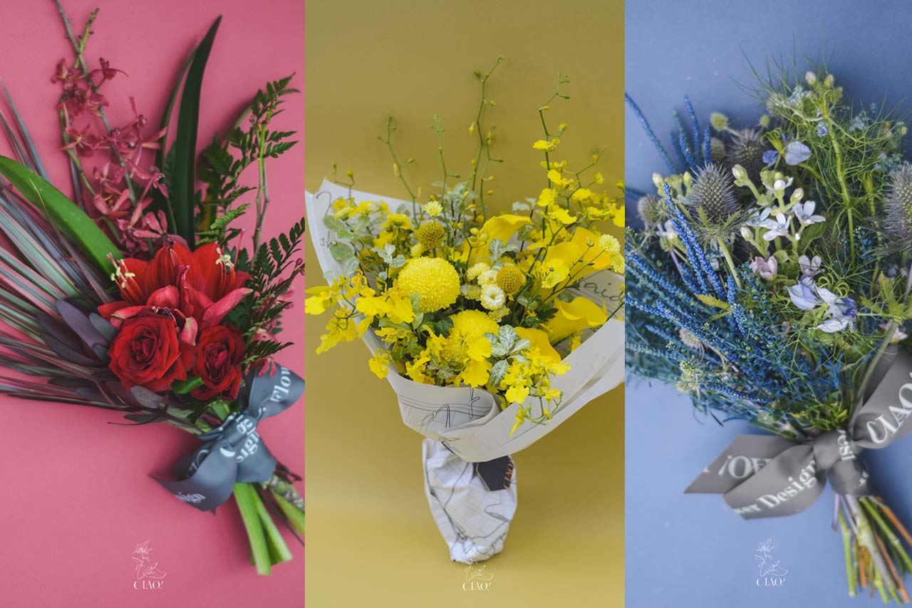 台北大安區花店,鮮花販售與花束販售,不同個性有不同的顏色搭配