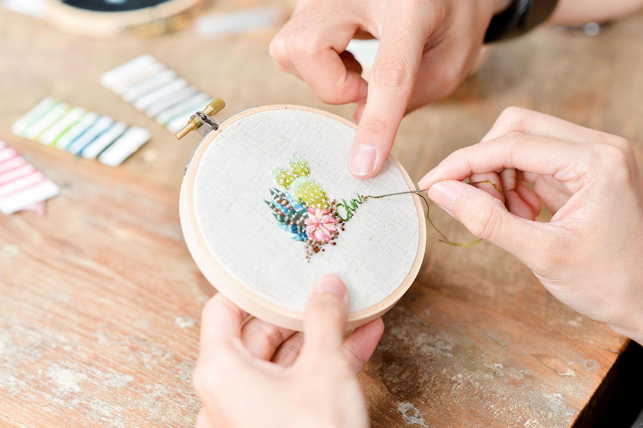 傳統刺繡教學