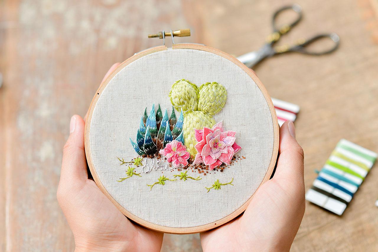 立體刺繡課作品
