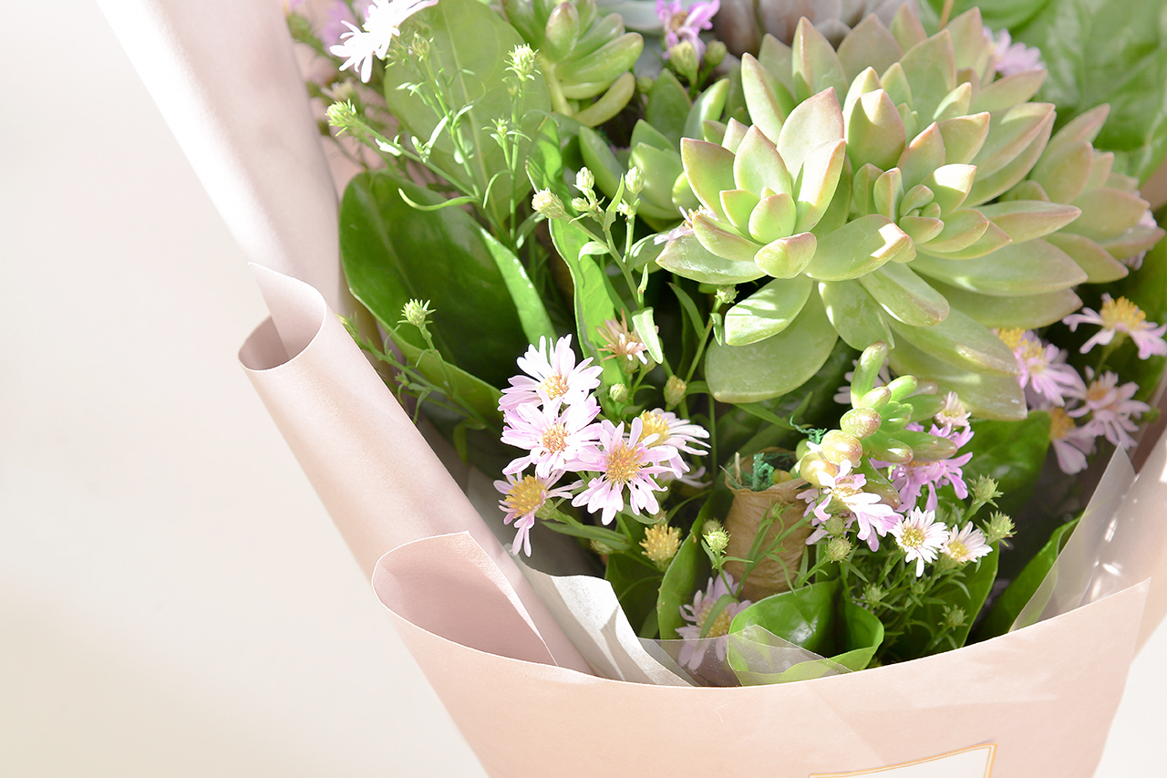 多肉花束 – 綠野仙蹤 粉色花束 06