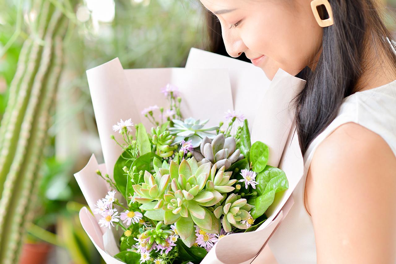 多肉花束 – 綠野仙蹤 粉色花束 10