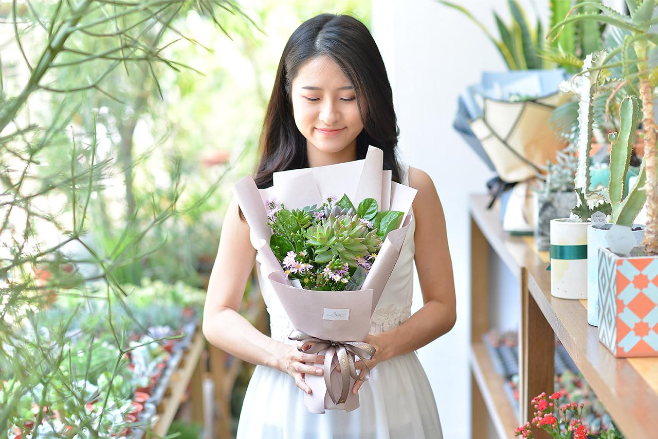 多肉花束 – 綠野仙蹤 粉色花束 11