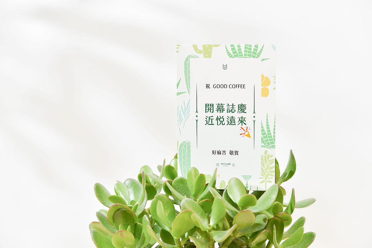 發財樹祝賀卡片