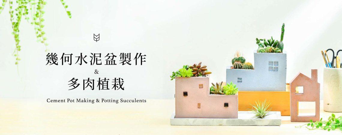 [ 水泥課程 ] 幾何水泥盆栽製作 & 多肉植栽 2